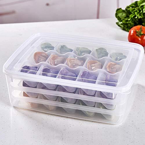 BAOXIANHE Caja De Almacenamiento Plástico Tres Capas Empanadillas Congeladas Rápidamente Almejas Alimentos...