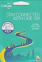 【CMLink】香港 澳門 2ヶ国 4G-LTE/3G 2GB/日(2GB越えても384kbpsにて無制限通信可能) データ通信 SIMカード GLOBAL DATA SIM Card (3日間(72時間), 1枚)