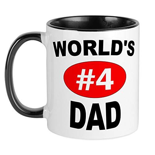 dad coffee cups CafePress World's #4 Dad | Mug Unique Coffee Mug, Coffee Cup