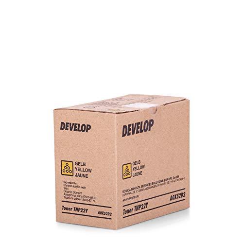 Original Develop A0X52D2 / TNP-22 Y, für Ineo Plus 35 Premium Drucker-Kartusche, Gelb, 6000 Seiten