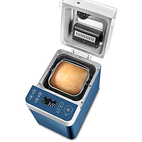 Volautomatische huishoudelijke Bread Maker, 3D Hot Air Circulation Verwarming, Silent Deeg Kneden Machine met Fruit Feeding Gist Box, blauw LQH