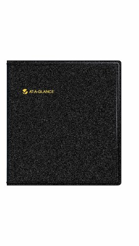 "AT-A-GLANCE Five-Year Monthly Planner, Black, 9"" x 11"", 2015-2019"