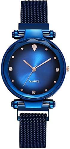 JZDH Reloj de Pulsera, Reloj Decorativo de Las señoras en 5 Colores de la Cesta Negra, Oro púrpura y Rojo. Reloj de marcación de aleación de 40mm