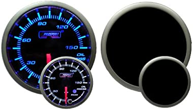 Oil Pressure Gauge-with Peak and Warning Electrical Blue/white Premium Series 52mm (2 1/16