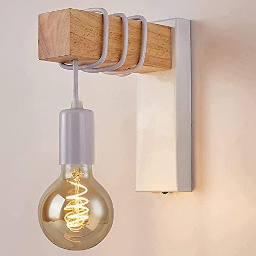 MWKL Lámpara de Pared de Estilo Industrial Antiguo de Alto Rendimiento de una Sola Cabeza, Aplique de Pared Vintage Creativo, Arte de Hierro, Arte de Madera, lámpara de Pared para Cabeza