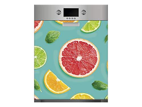 Vinilo para Lavavajillas Frutas | Varias Medidas 65x75cm | Adhesivo Resistente y de Fácil Aplicación | Pegatina Adhesiva Decorativa de Diseño Profesional