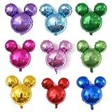 JPYH Mickey Mouse Themed Geburtstag Dekorationen,20PCS Mickey Ballon Luftballons Geburtstag Folienballon Luftballon Mickey Kindergeburtstag Deko Geburtstag Ballon 18 Zoll Helium Luftballons