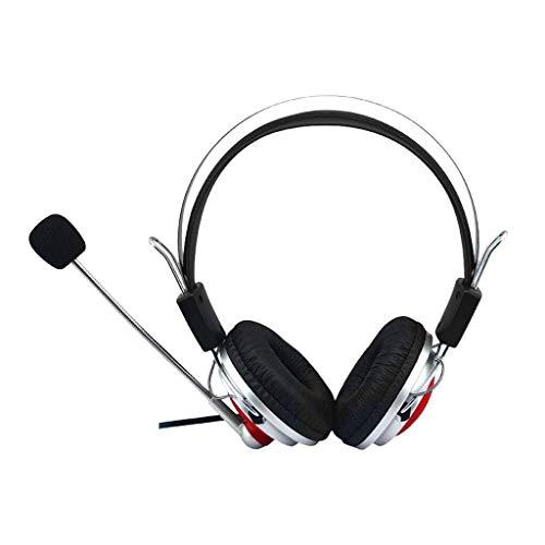 KK Timo Gaming Headset 3.5mm con El Auricular del Micrófono, For El Interruptor De For PS4 Equipo Auricular Estéreo del Juego De Auriculares De Voz Eliminación Activa De Ruido Almohadillas Cómodas