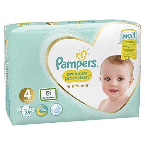 Pampers Premium Protection Windeln, Gr. 4 Maxi (9-14 kg), 1er Pack (1 x 39 Stück)
