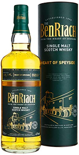 The BenRiach - Heart Of Speyside - Speyside Single Malt Scotch Whisky - 40% Vol. (1 x 0.7l) / Doppelt gereift in einer Kombination aus Bourbon- und Sherryfässern
