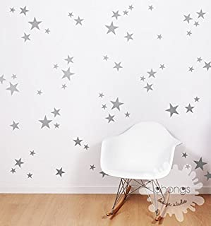 A star in the wall / 3 Size Star Wall Decal/Star Decal/Gold stars decal / 69 Stars Pattern Wall Decal/Kids Room Decal/Nursery decal/Home Decor/gift