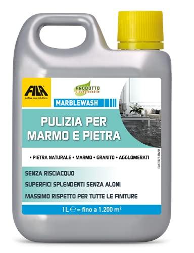 FILA Surface Care Solutions MARBLEWASH Detergente per Marmo e Pietra Naturale, Incolore, 1 Litro, 1000 unità