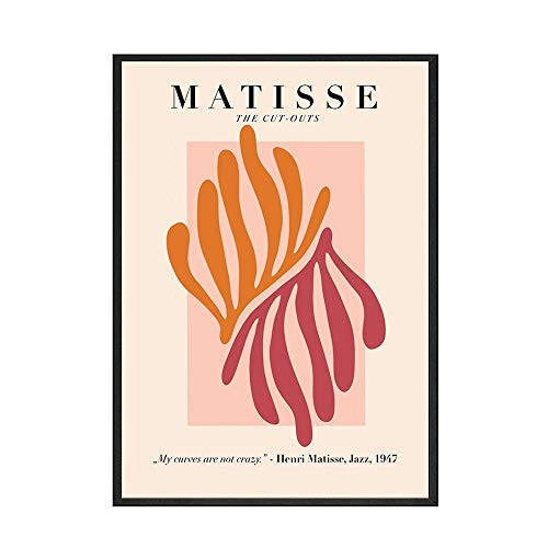 HJGB Matisse style posters and prints, abstract plant nude pictures, home frameless decorative canvas paintings B 20x30cm