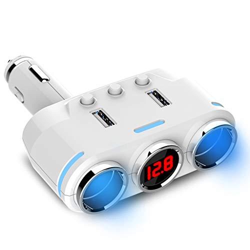 Cargadores de Coche Cargador De Coche USB Adaptador De Cargador De Coche Tipo-C PD 2.0 Carga Rápida 3.1A 12-24V Universal QC3.0 Teléfono Móvil Carga Rápida Negro/Blanco Cargadores de Coche