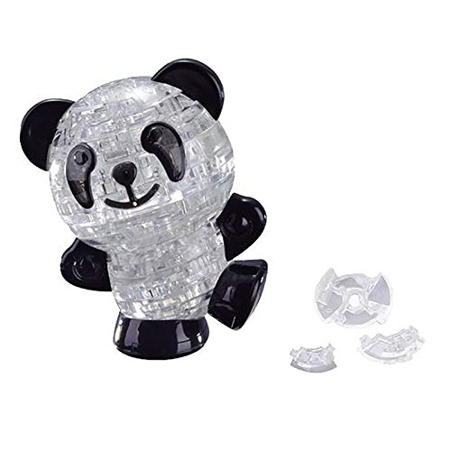 Younoo Puzzle Panda aus Kristall, 3D – 53 Teile Puzzle aus Kristall, 3D-Tier, Basteln, Jigsaw intellektuelles Spielzeug, personalisiertes Geschenk für Erwachsene und Kinder (transparent)