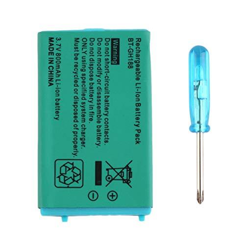 Funnyrunstore 3.7V 850 mAh Batería recargable para Nintend para sistemas Game Boy Advance SP con batería de litio Destornillador Verde
