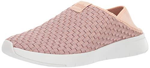 FitFlop Women's STRIPKNIT Sneaker, Rose Gold, 8.5 M US