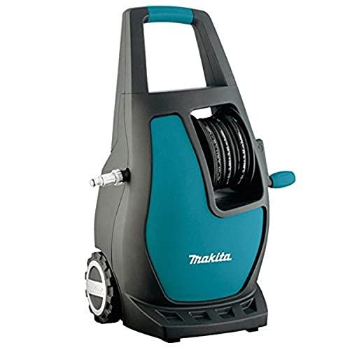 Makita HW111 Compacto Eléctrico 370l/h 1700W Negro, Turquesa Limpiadora de alta presión o Hidrolimpiadora - Limpiador de alta presión (Compacto, Eléctrico, 5,5 m, 5 m, Negro, Turquesa, 370 l/h)