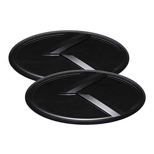 Chuangzhi Sales Fit KIA Front Tailgate Emblem Stickers Fit KIA 2011-2020 Optima K5 Car Accessories (Black)