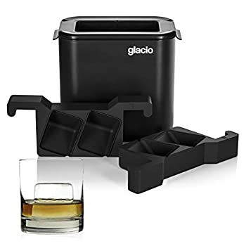 glacio Clear Cube Ice Duo - Crystal Clear Ice Square - Clear Ice Cube for Whiskey