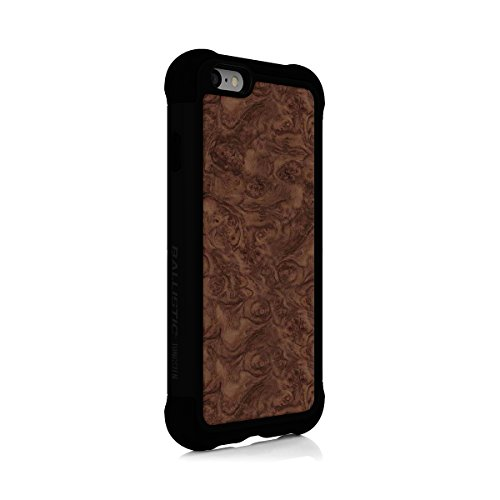 iPhone 6s Case, Ballistic [Tungsten Tough Series] Ultra Protective 7 Ft.Drop Test Certified Protective Case for Apple iPhone 6 and 6s Burl Wood Design and Black Trim