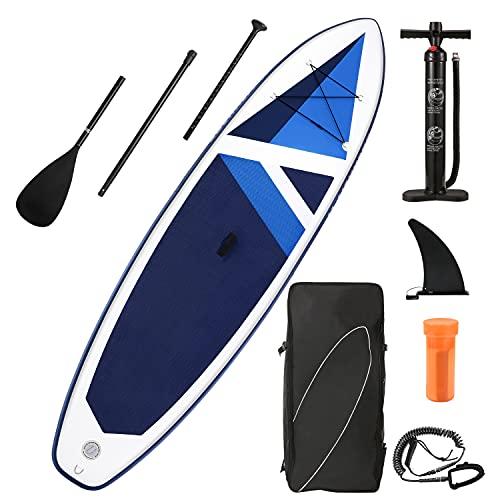 Stand Up Paddling Board 320x80x15cm SUP Board Aufblasbar mit Paddleboard Zubehör & Tragbarem Rucksack für Jugendliche Erwachsene Haben Sie Spaß in Fluss, Meeren und Seen