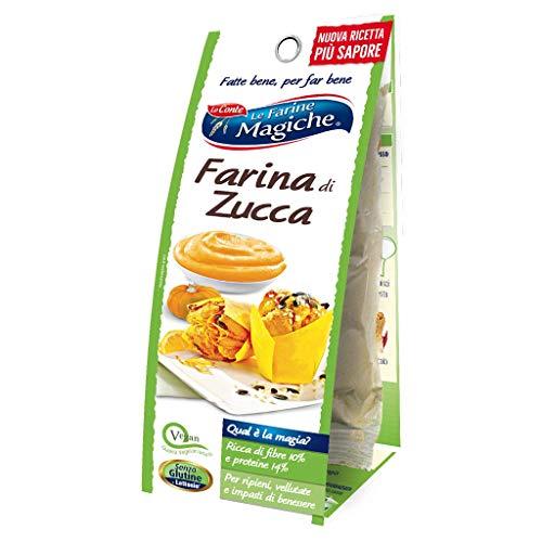 Le Farine Magiche Farina di Zucca, Senza Glutine, ricca di Fibre, Proteine e Vitamine, ideale per Vellutate, Ripieni e Impasti di benessere, Confezione da 100 g