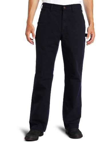 Carhartt Men's Washed Duck Work Dungaree Pant, Midnight, 46W x 30L