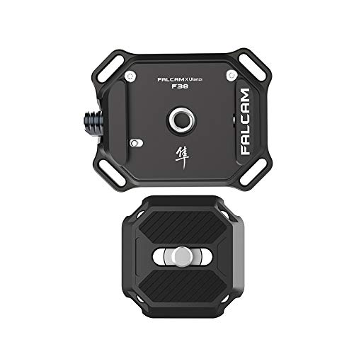CAMOLA Camera Strap Quick Release Plate Adapter Mount Quick Switch Kit Shoulder Strap Clip Compatible with Sony/Nikon/Canon Cameras Zhiyun/DJI/Moza Gimbal/Slider/Tripod Plate 1/4' Screw Video Shooting