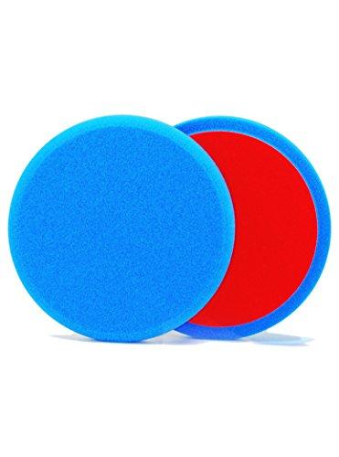 ALCLEAR 5516030S polijstpad soft, auto polijstspons, diameter: 160x30 mm, blauw, set van 2, polijstpad polijsten pad spons polijstschuimf voor polijstmachine