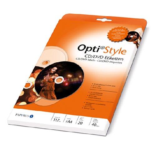 Papyrus 88081989 CD/DVD Etiketten Selbstklebende Opti Style