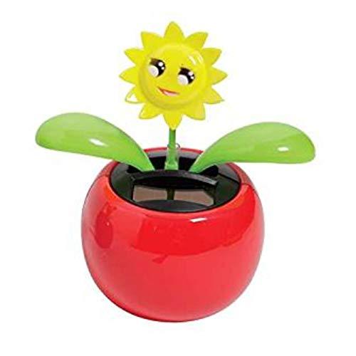 mxdmai Flor de girasol bailando felicidad para decoración del coche o la oficina, decoración del hogar, color amarillo y rojo