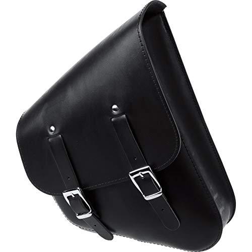 Stoverinck Motorrad Satteltaschen für Motorrad Taschen Leder Satteltasche Tringular Links schwarz, Unisex, Chopper/Cruiser, Ganzjährig