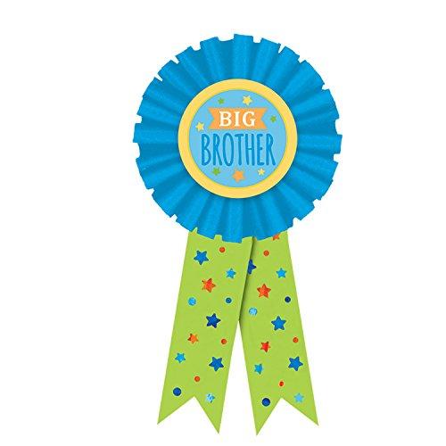 Amscan 210463 5 1/2 Inches Big Brother Blue Award Ribbon, Multicolor