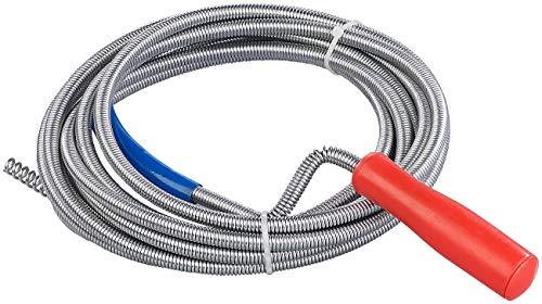 AGT Abflussspirale: Rohrreinigungs-Spirale für Waschbecken, Dusch- & Badewanne, 5m, Ø 9mm (Rohrreinigungsspiralen)