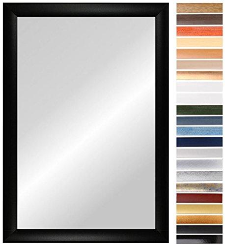 OLIMP 76 x 74 cm miroir avec cadre sur mesure, couleur du cadre : Alu Criss Cross, cadre de miroir fait-main aux dimensions souhaitées, y compris miroir et panneau arrière stable, baguette d'encadrement : 35 mm de largeur et 18 mm de hauteur, dimensions extérieures du miroir : 760 mm x 740 mm