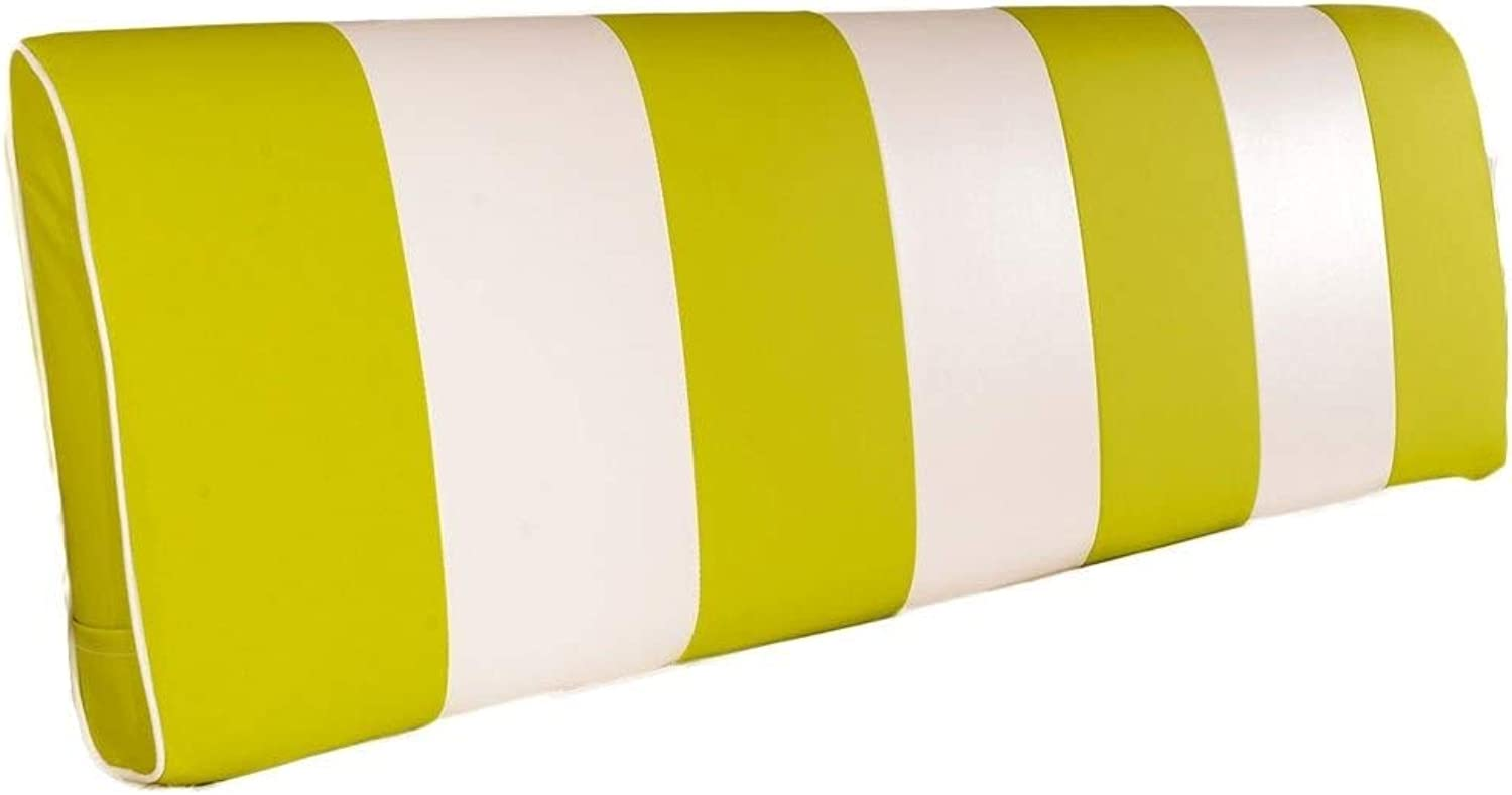 Bed Soft Bag Double Head Pillow Washable 120cm 150cm 180cm Large Cushion Bed Cover Simple Modern Pillow Removable (color   Yellow, Size   150cm)