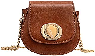 TOOGOO Pu Leather Crossbody Bags For Women Lock Messenger Shoulder Bag Chain Lock Travel Purses And Handbags White