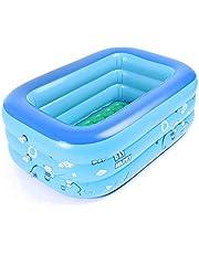 JYCRA Baby Opblaasbaar Vouwbad Zwembad,Dikker Duurzaam Baby Zwembad Draagbare Reizen Douche Wastafel voor Baby en Kinderen (Blauw)