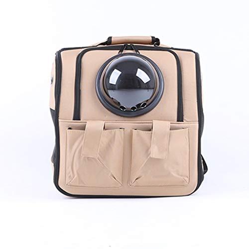 IAOHUO Katze Haustier Tasche, Out Schulter Tasche Hund Tragbare Reisetasche Raumkapsel Haustier Tasche Katze Rucksack Katze Tasche (Color : Beige)