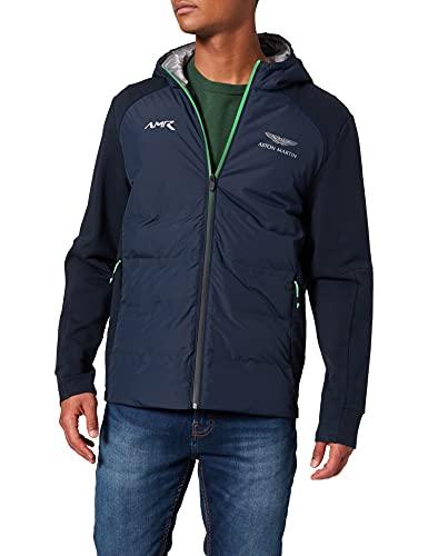 Hackett London AMR Quilt FZ HDY Jersey, Azul Marino, XL para Hombre