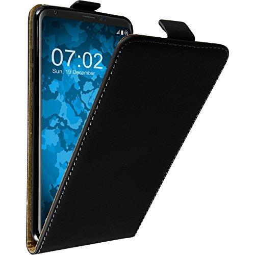 PhoneNatic Kunst-Lederhülle kompatibel mit LG V30 / V30S ThinQ - Flip-Hülle schwarz Cover