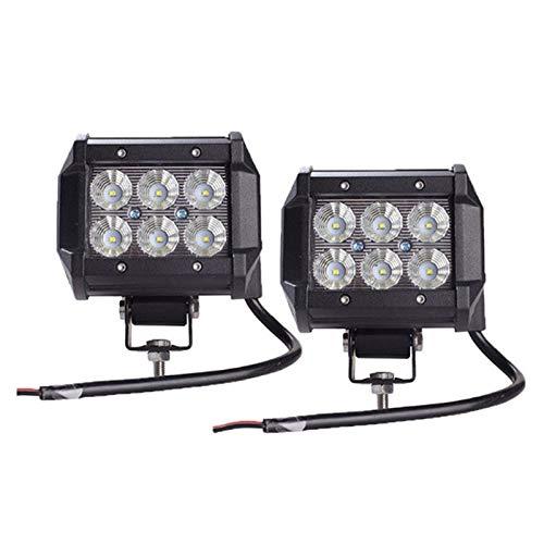 JTCT Auto LED-Licht Auto 18W führte Lichtstrahl-Arbeitslicht-Lampen-Chip LED 4 & quot;Stelle/Flut-Motorrad-Traktor-Boot Weg vom Straßen-LKW 2Pcs / Lot (Edition : Spot Beam)