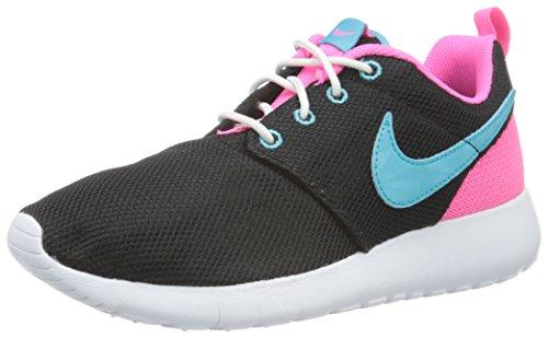 Nike Damen Roshe One (Gs) Turnschuhe, Schwarz (Nero (Black/Gamma Blue/Pink Blast/White) Black/Gamma Blue/Pink Blast/White), 38 EU