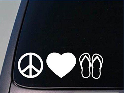 EZ-STIK Peace Love Flip Flops stickerH151 8