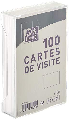 Oxford Correspondance Cartes de visite 8,2 x 12,8 cm Blanc
