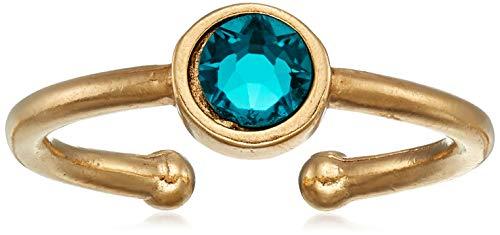 Alex and Ani Women's Swarovski Color Code Adjustable Ring December Blue...