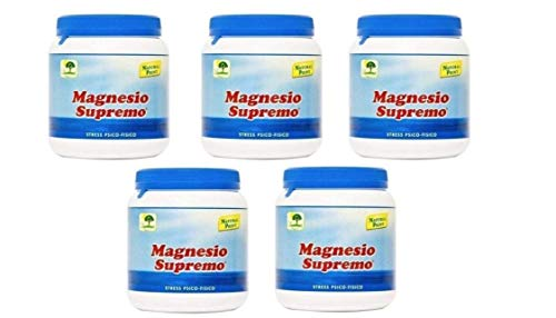 Natural Point Magnesio Supremo 300 gr - Antistress ed Antistanchezza - 5 Confezioni da 300 grammi
