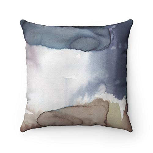 Promini Boho Pillow Cover, Couch Accent Decorative Pillowcase, Navy Beige, Modern Abstract Art Square Pillowcase Throw Pillow Covers Case Cushion for Sofa Home Decor 26 x 26 Inches