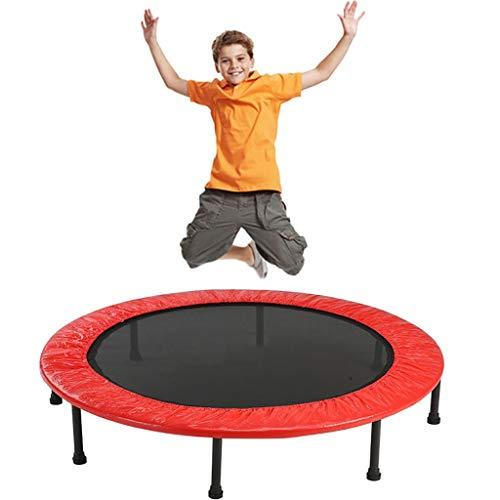 Trampoline voor kinderen Trampoline Kids Trampoline Voor Thuis Trampoline Voor Binnen Kinder Trampoline Fitness Yoga Bed Opvouwbare Trampoline Φ120cm / 47 Inch (Color : Red)